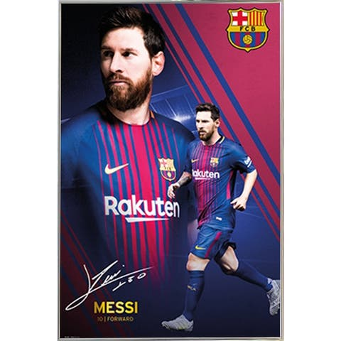 Messi Collage 17/18 Poster with Choice of Frame (24x36)