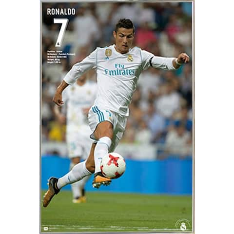 Real Madrid Ronaldo Poster with Choice of Frame (24x36)