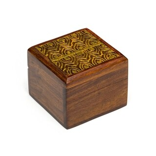 Wood Kashvi Keepsake Box - Temple (India)