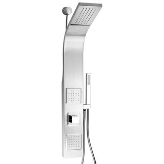 "AKDY SP0039 39"" Stainless Steel Wall Mount Easy Connection Rainfall Waterfall Overhead Multi-Function Shower Tower Panel"