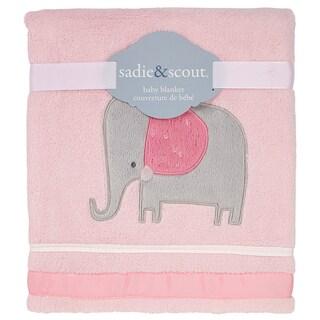 Sadie & Scout- Little Meadow - Solid Coral Fleece blanket