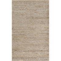 Hand-woven Natural Pale Grey Jute Farmhouse Rug (2' x 3') - 2' X 3'