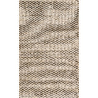 Hand-woven Natural Pale Grey Jute Farmhouse Rug (2' x 3') - 2' X 3'