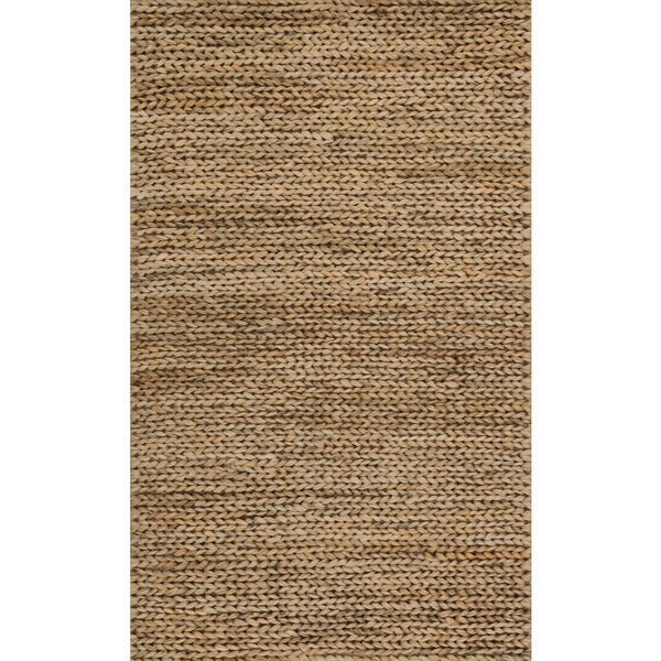 Alexander Home Hand-woven Natural Jute Farmhouse Rug. Opens flyout.