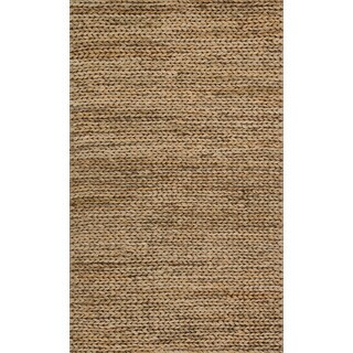 Hand-woven Natural Beige Jute Farmhouse Rug (2' x 5')