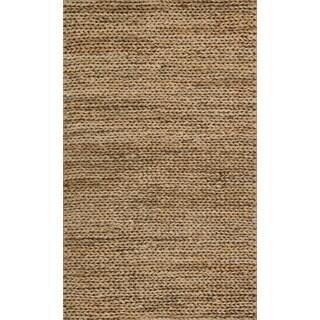 Hand-woven Natural Beige Jute Farmhouse Rug (2' x 5')