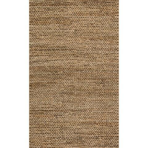 Hand-woven Natural Beige Jute Farmhouse Rug (2' x 3')