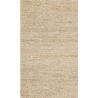 Hand-woven Natural Ivory Jute Farmhouse Rug (2' x 5')
