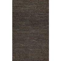 Hand-woven Natural Charcoal Brown Jute Farmhouse Rug - 2' x 5'