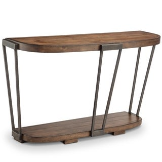 Yukon Industrial Bourbon and Aged Iron Entryway Table