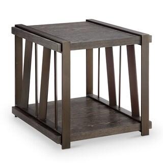 Aviston Contemporary Weathered Graphite Rectangular End Table