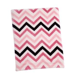 Sadie & Scout- Pink Chevron French Fiber Blanket