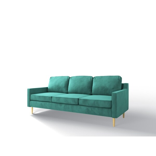 Shop Af Lifestyle Velvet Mid Century Modern Otto Sofa Free