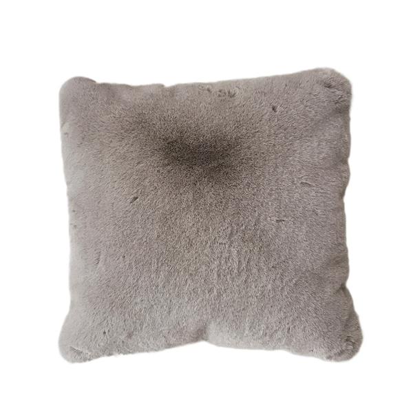 Mocha Brown Single Color Faux Fur Material Home Decor Pillow