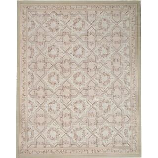 """Pasargad Aubusson Hand-Woven New Zealand Wool Runner (2'11"""" X 10' 2"""") - 2'11"""" x 10' Runner"""