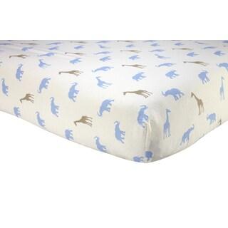 Sadie & Scout - Safari Print Crib Sheet - Boy