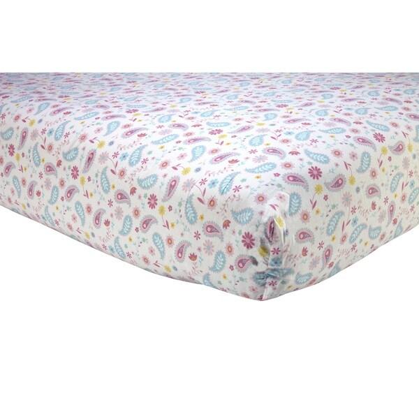 Shop Sadie Amp Scout Pink Paisley Print Crib Sheet Free