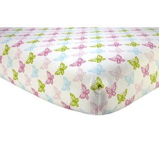 Sadie & Scout- Pink Butterfly Crib Sheet