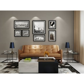 AF Lifestyle Mid-Century Modern Leather Morris Sofa