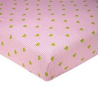 Sadie & Scout- Pink Bird Print Crib Sheet