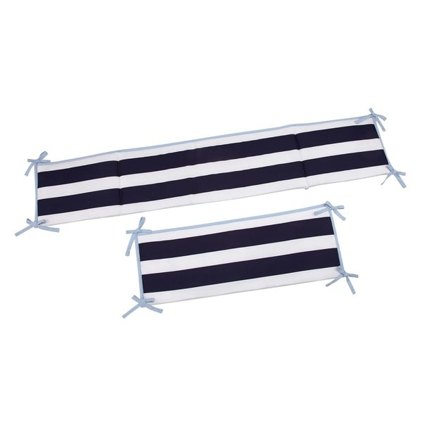 Sadie & Scout Navy / White Striped Traditional Padded Bumper