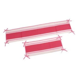 Sadie & Scout- Hot Pink / White Traditional Padded Bumper