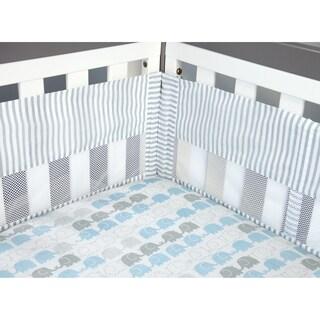 Elefant Blau Crib Liner