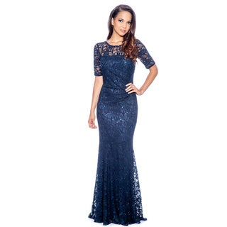 Decode 1.8 Women's Plus Size Long Lace Evening Dress