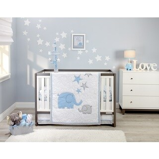 Elefant Blau 4pc Infant Bedding Set