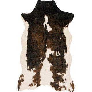 Faux Brown/ Beige Cowhide Rug - 3' x 5'