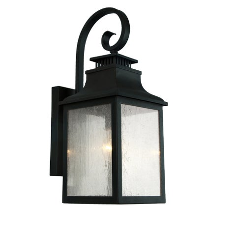 Y-Decor Morgan 1 Light Outdoor Wall Mounted Light In Imperial Black