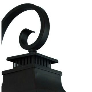 Y-Decor Morgan 2 Light Exterior Light in Imperial Black Finish