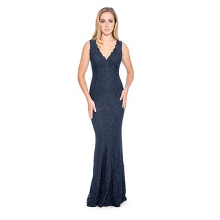Decode 1.8 Women's Plus Size Long Evening Dress-Silver (More options available)
