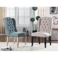 Best Master Furniture Upholstered Wingback Side Chairs (Set of 2)