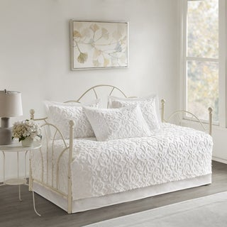 Link to Copper Grove Kenai Fjords White 5-piece Cotton Chenille Daybed Set Similar Items in Daybed Covers & Sets