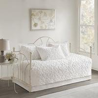 Copper Grove Kenai Fjords White 5 Piece Cotton Chenille Daybed Set