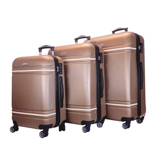 Hardside Vintage 3pc Luggage Set - Rose Gold
