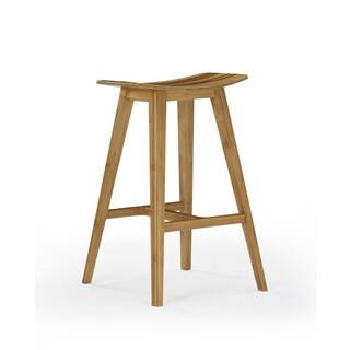 "Eco Ridge by Bamax ECO09CA Tigris 26"" Counter Height Stool with Tiger Bamboo, Caramelized, (Set of 2)"