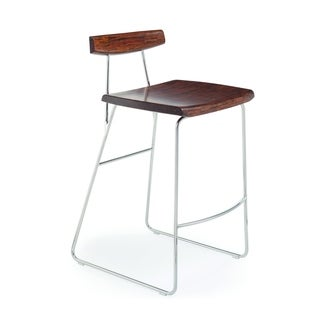 "Greenington G0051E City Lights/Paris 26"" Counter Height Stool with Back, Exotic, (Set of 2)"
