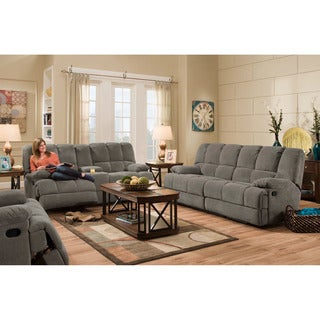 Cambridge Penn Double Reclining Sofa in Charcoal