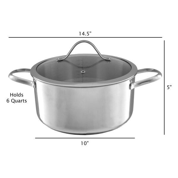 Classic Cuisine 6 Quart Stainless Steel Stock Pot