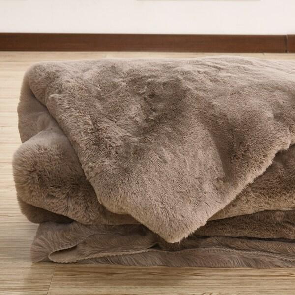 Shop Handmade Beautiful Faux Fur Throw Blanket In Mocha Brown Color Extraordinary Nice Throw Blankets