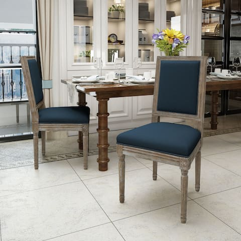 Ledger Traditional Fabric Dining Chair (Set of 2) by Christopher Knight Home