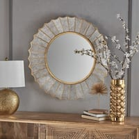 Willis Glam Sun Burst Circular Wall Mirror by Christopher Knight Home
