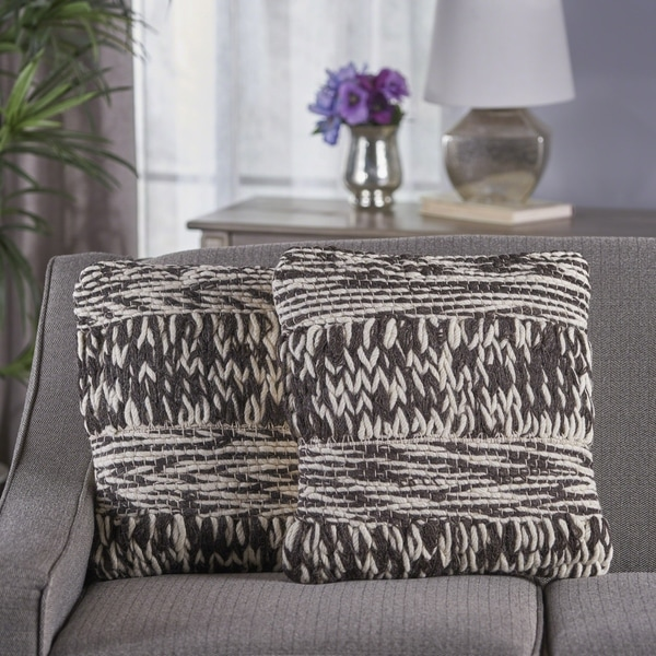 Cassius Wool Pillow (Set of 2) by Christopher Knight Home