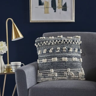 Clara Wool Denim Pillow by Christopher Knight Home