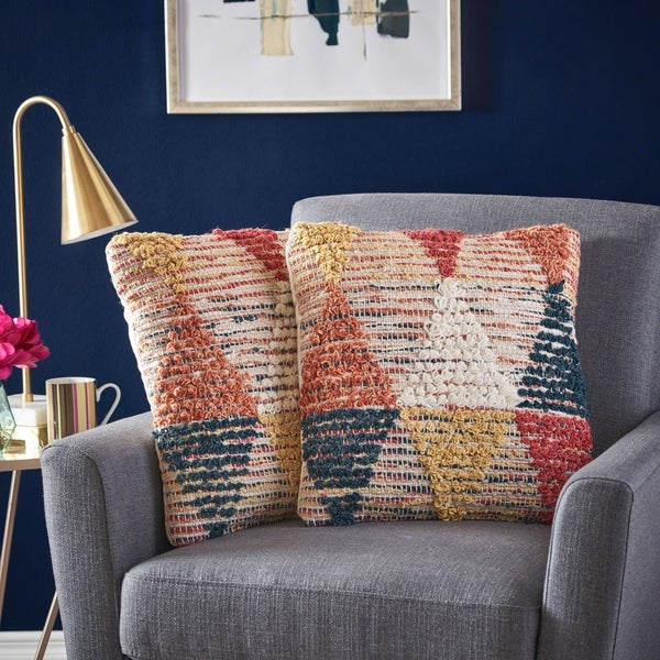 Cierra Wool Pillow (Set of 2) by Christopher Knight Home