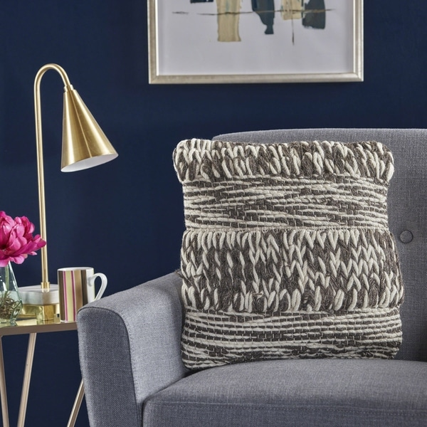 Cassius Wool Pillow By Christopher Knight Home