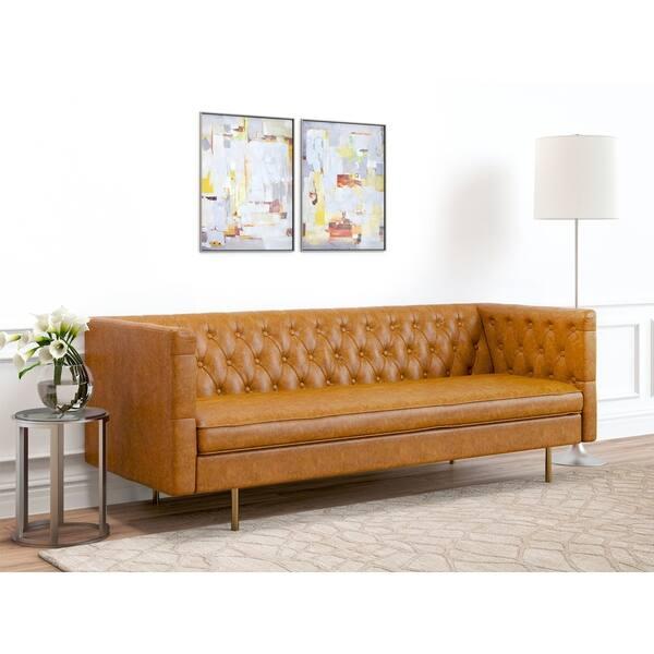 Fabulous Af Lifestyle Barnaby Mid Century Modern Leather Tuxedo Sofa Beatyapartments Chair Design Images Beatyapartmentscom