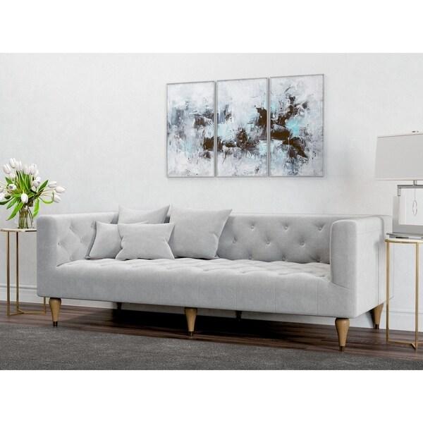 AF Lifestyle Mid-Century Modern Alan Tuxedo Sofa